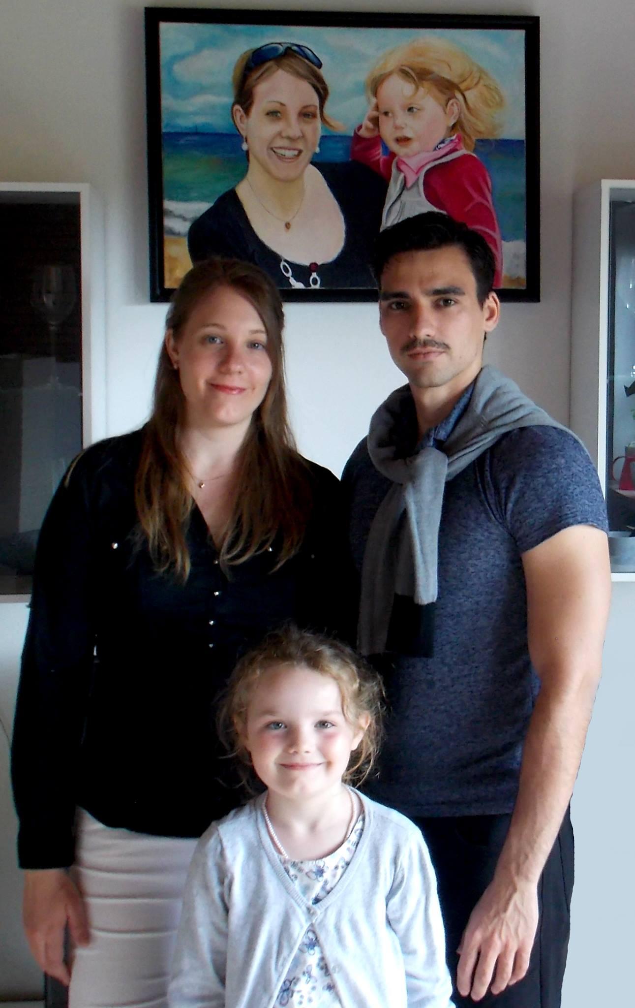 Julia, Ramón und ihre Tochter.