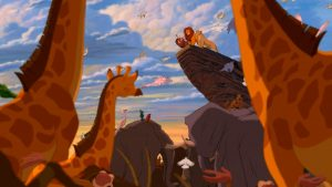 """THE LION KING""(top center) Timon (voice by Nathan Lane), Pumbaa (voice by Ernie Sabella), Simba (voice by Matthew Broderick), Nala (voice by Moira Kelly)©Disney Enterprises, Inc. All Rights Reserved."