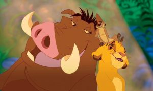 """THE LION KING"" (L-R) Pumbaa, Timon, Simba ??Disney Enterprises, Inc. All Rights Reserved."